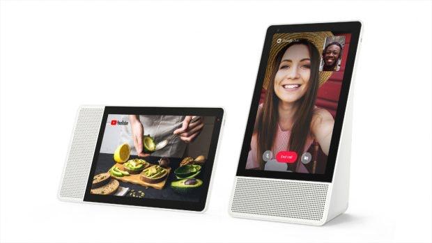 Lenovo Smart-Display kann im Quer- und Hochkantformat genutzt werden.(Foto: Lenovo)