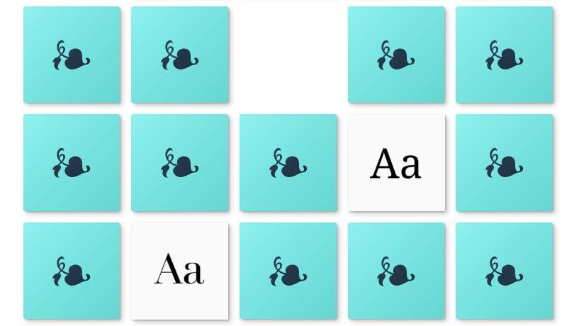 Jemand hat ein Memoryspiel mit Schriftarten programmiert – wie gut bist du?