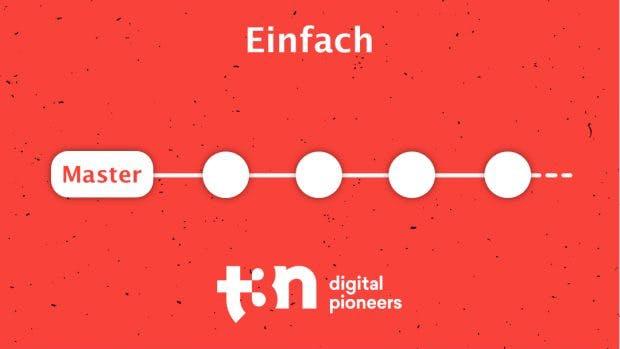 Einfacher Git-Workflow mit nur einem Branch. (Grafik: t3n.de)