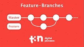 Beim Feature-Branches-Workflow wird für jedes neue Feature vom Entwickler ein neuer Branch angelegt. (Grafik: t3n.de)