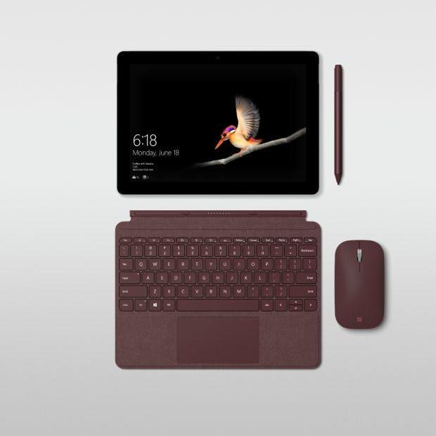 Microsoft Surface Go – Keyboard und Stift kosten extra. (Foto: Microsoft)