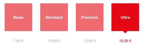 Netflix Ultra: Das Premium-Modell wird künftig nicht mehr der teuerste Tarif sein. (Screenshot: t3n.de)