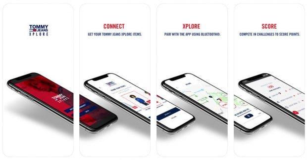 Tommy Hilfiger: Per App werden Konsumenten für das Tragen der Kleidung belohnt. (Screenshot: App-Store)