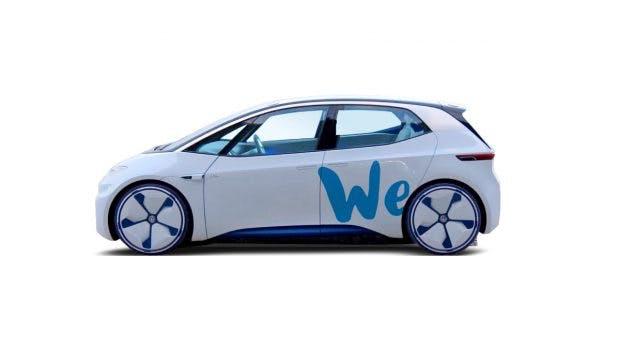 """Die Studie I.D. als """"Shared"""" Volkswagen."""