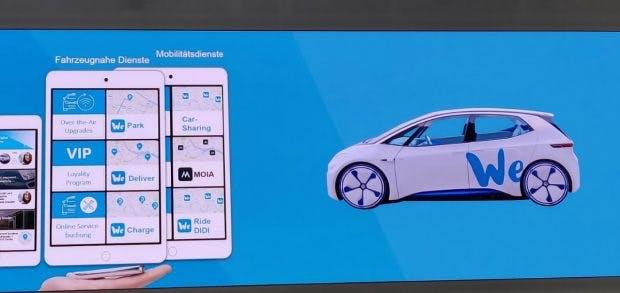 Über die VW We-Plattform sollen alle Dienste des Unternehmens gebucht werden können. (Foto: t3n.de)