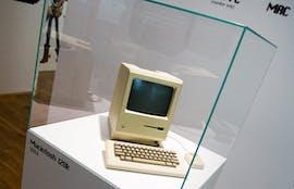 Ein Macintosh 128K, aus dem Jahr 1984, im Apple Museum in Prag. EPA/FILIP SINGER |