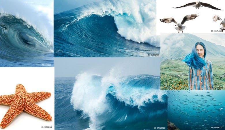 Collage Wellen