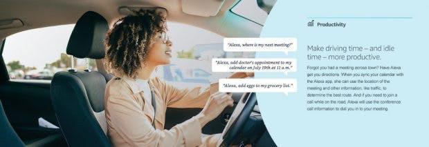 Amazons Alexa soll jetzt auch die Straßen erobern. (Grafik: Amazon)