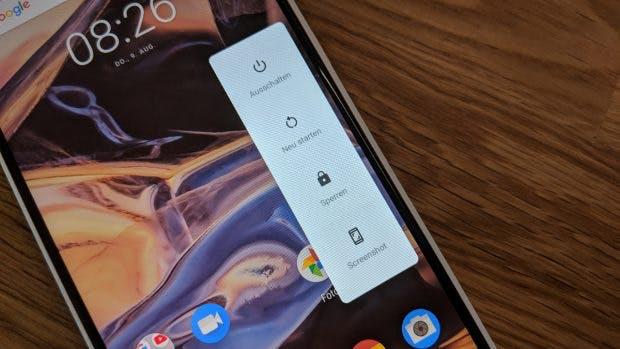 Scrrenshots lassen sich unter Android 9 Pie über einen Button erstellen. (Foto: t3n.de)