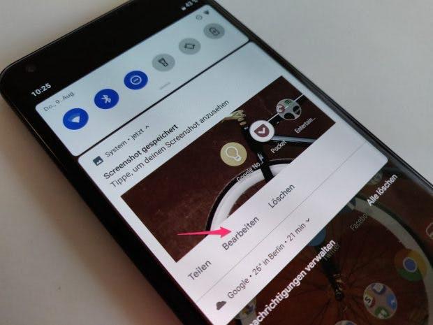 Screenshots lassen sich unter Android 9 Pie schnell bearbeiten und mit Anmerkungen versehen. (Foto: t3n.de)
