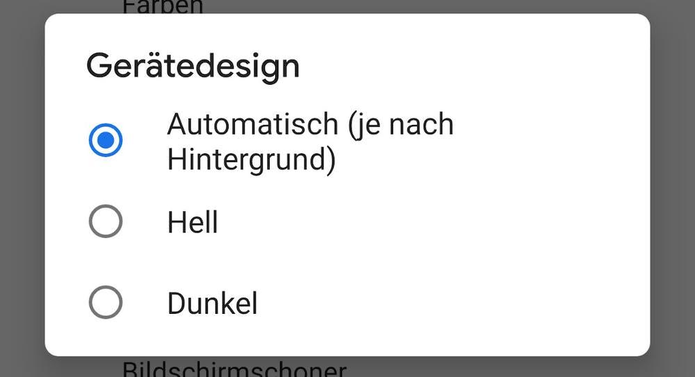 In den Einstellungen könnt ihr zwischen hellem, dunklem und adaptivem Theme wählen. (Bild: t3n.de)