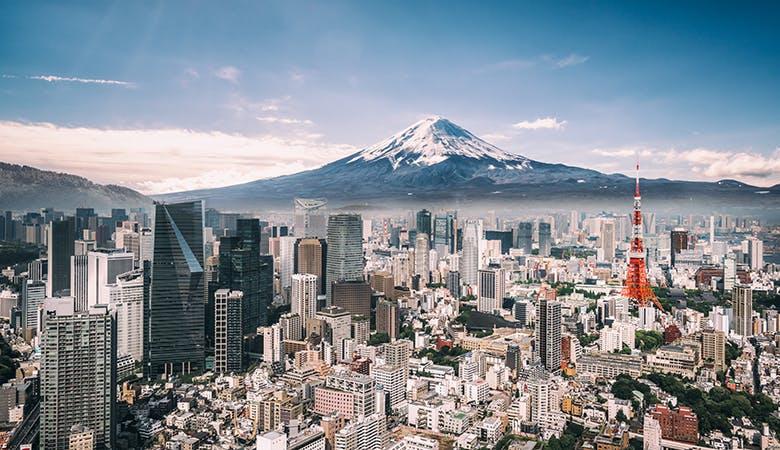 Tokio und Mt. Fuji