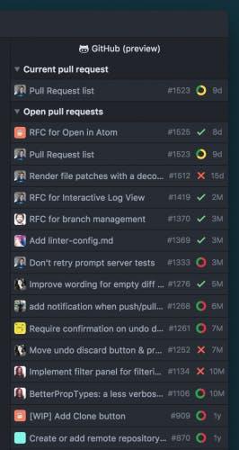 Die Github-Integration soll in Zukunft alle offenen Pull-Requests anzeigen. (Screenshot: Github)