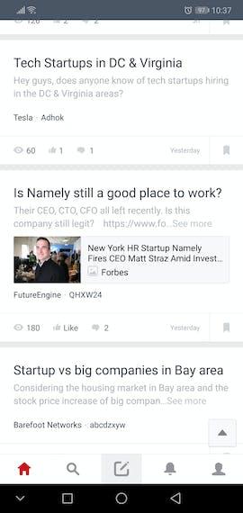 (Screenshot: Blind für Android / t3n)