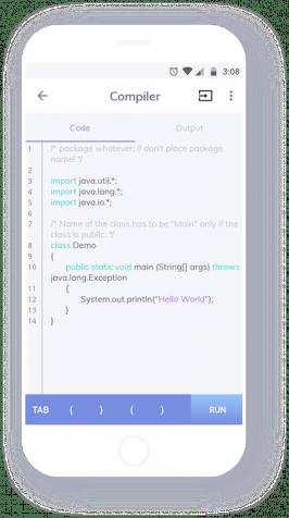 Die Android-App Programming Hub hat auch einen Compiler mit an Bord. (Grafik: Nexino Labs)