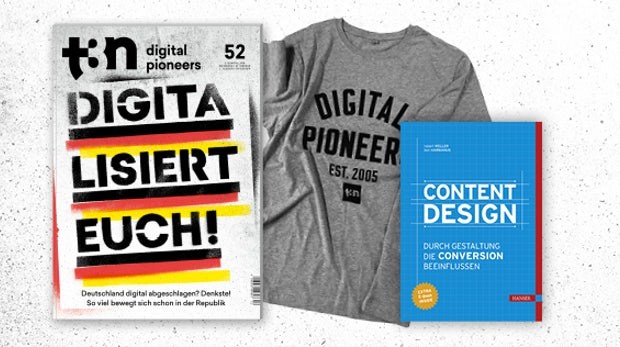 """t3n Abo und das Hanser-Fachbuch """"Content Design"""" gratis dazu"""