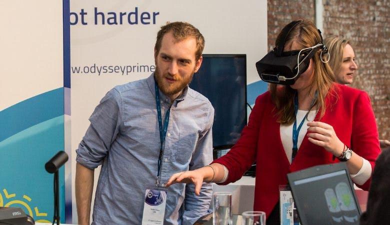 VR auf der EIT Digital Conference.