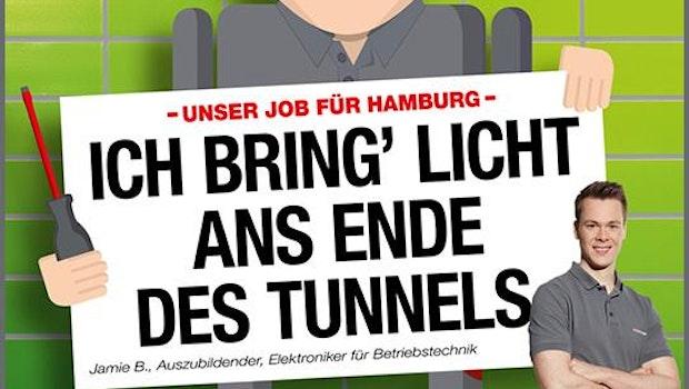 Employer-Branding-Kampagne der Hamburger Hochbahn. (Grafik: Hamburger Hochbahn)