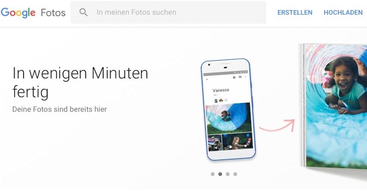 Google bringt Fotobuch-Dienst...