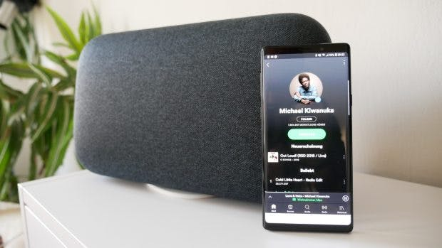 Über die Spotify-App lässt sich der Speaker auch steuern. (Foto: t3n.de)