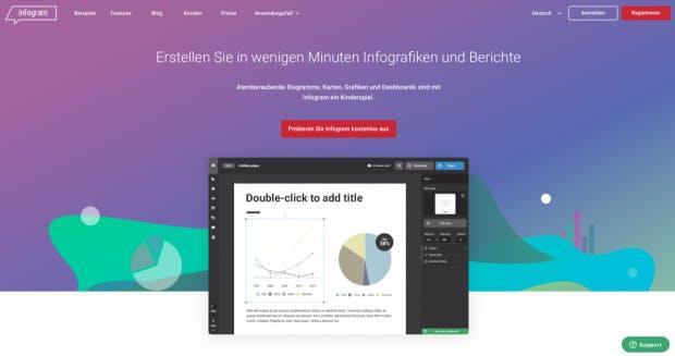 Infogram richtet sich an Anfänger. (Screenshot: t3n.de)