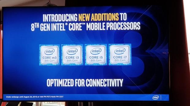 Intel Core Prozessoren der 8. Generation verbessern Konnektivität, Leistung und Akkulaufzeit für Laptops