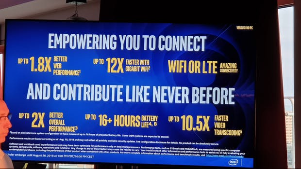 Neue Intel Core-Prozessoren der 8. Generation. (Foto: t3n.de)