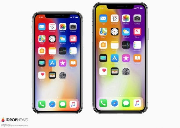 iPhone Xs und Xs Max Renderbild. (Bild: iDrop News)