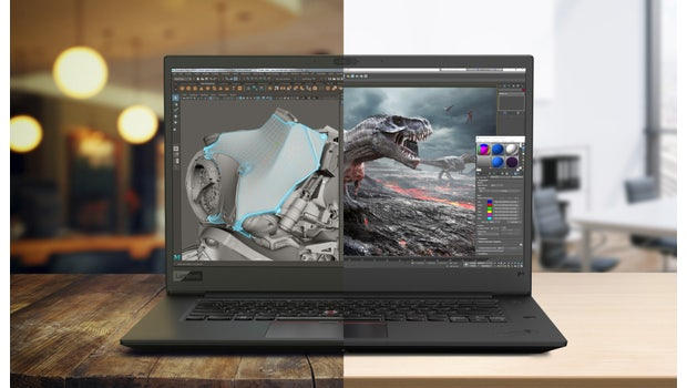 Wahlweise mit 4K- und  Full-HD-Display: Lenovo Thinkpad P1. (Foto: Lenovo)