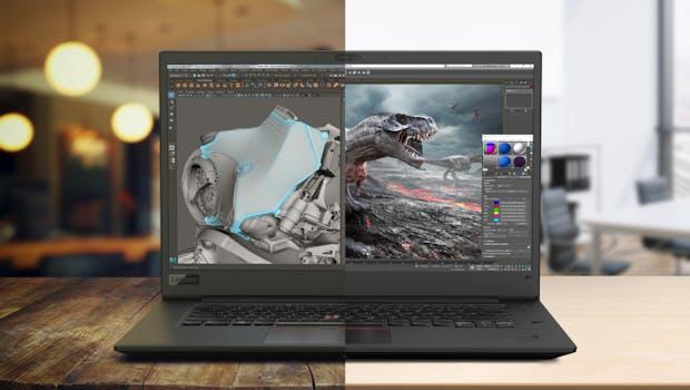 Wahlweise mit 4K- und  Full-HD-Display: Lenovo Thinkpad P1. (Foto: Lenovo)