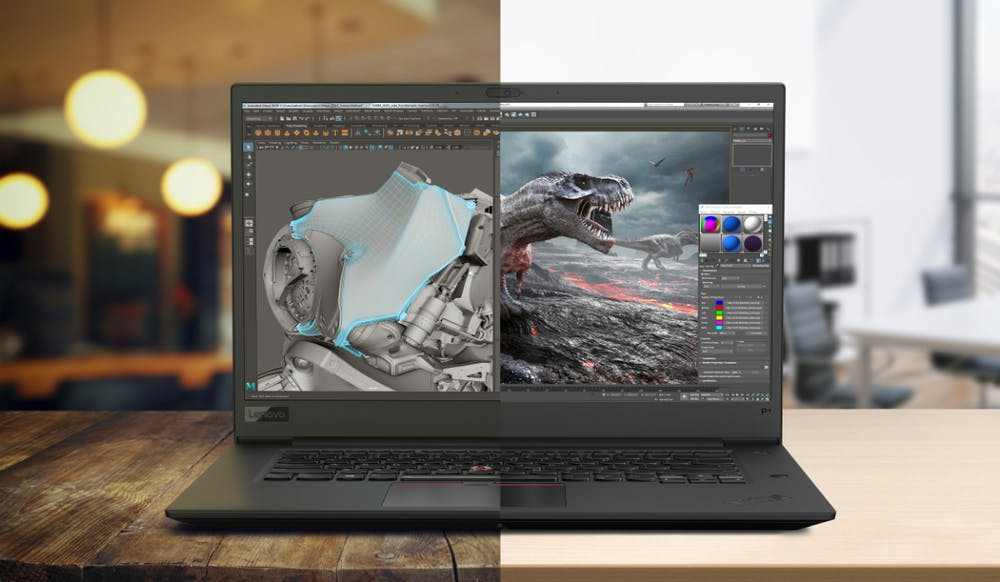 Wahlweise mit 4K- und Full-HD-Display Lenovo Thinkpad P1. (Foto: Lenovo)