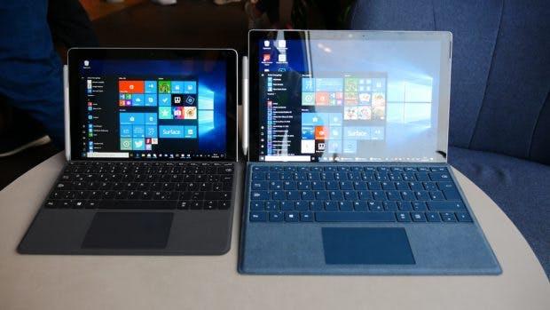 Surface Go neben dem Surface Pro. (Foto: t3n.de)