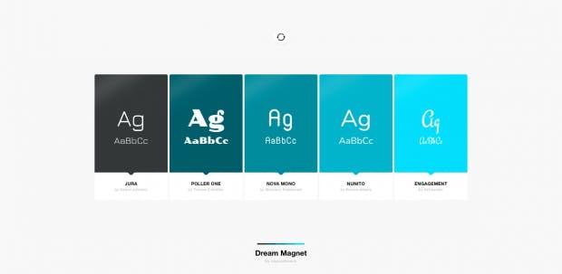Die Browser-Erweiterung Palettab zeigt dir beim Öffnen einen neuen Tabs fünf neue Fonts an. (Screenshot: t3n.de/Palettab)