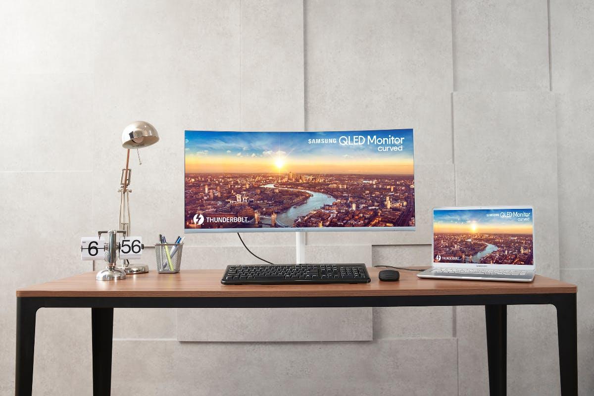 Strom und Daten über ein Kabel: Das ist der neue 34-Zoll-Curved-Monitor von Samsung