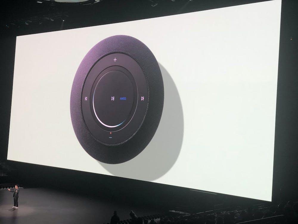 Samsung Galaxy Home – so sieht die Steuerung auf dem Gerät aus. (Bild: MKBHD)