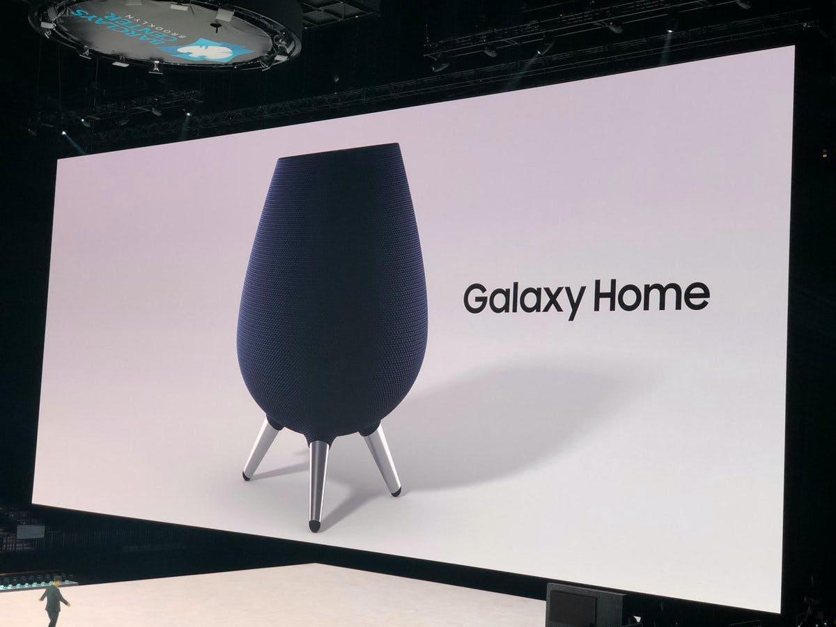 Samsung-Chef kündigt Smartspeaker Galaxy Home mit Bixby für April an