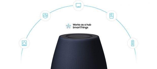 Vernetztes Zuhause: Der Samsung Galaxy Home dient auch als Smart-Things-Hub. (Bild: Samsung)