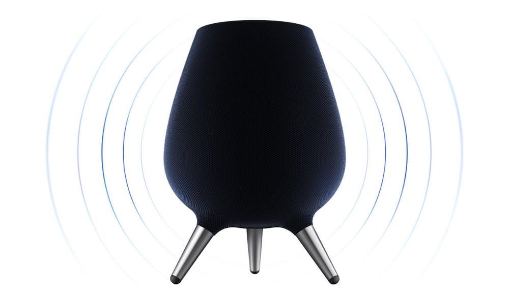 Der Samsung Galaxy Home – besitzt wie Apples Homepod 360-Grad-Sound. (Bild: Samsung)