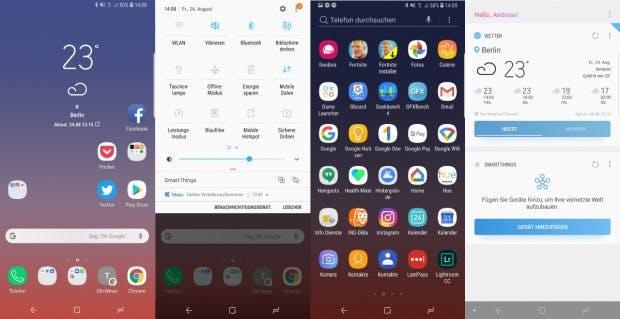Ein Blick auf den Launcher des Galaxy Note 9. (Bild: t3n.de)