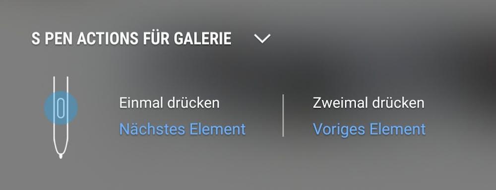 Der S Pen kann als Fernbedienung eingesetzt werden. (Screenshot: t3n.de)