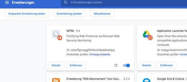 WPSE: Die Browser-Erweiterung soll Social Logins sicherer machen. (Screenshot: Chrome / t3n)