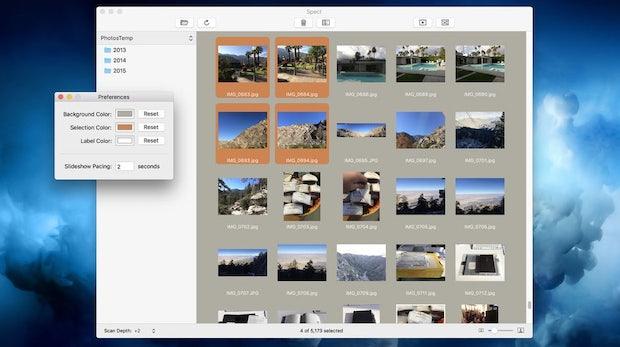 Spect ist der Finder für Fotos auf dem Mac