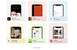 Wählt zwischen verschiedenen bekannten Apps aus. (Screenshot: t3n.de/UI-Sources)