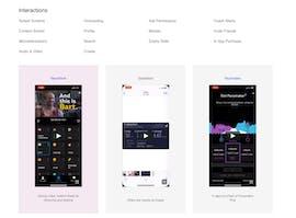 Filtermöglichkeiten für die Interaction-Designs. (Screenshot: t3n.de/UI-Sources)