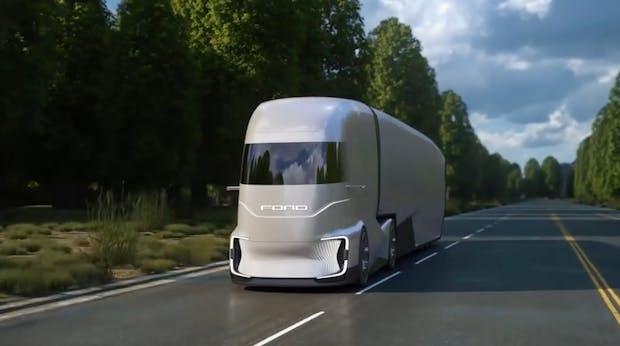 Selbstfahrender E-Lkw: Wie Ford sich den F-Vision vorstellt