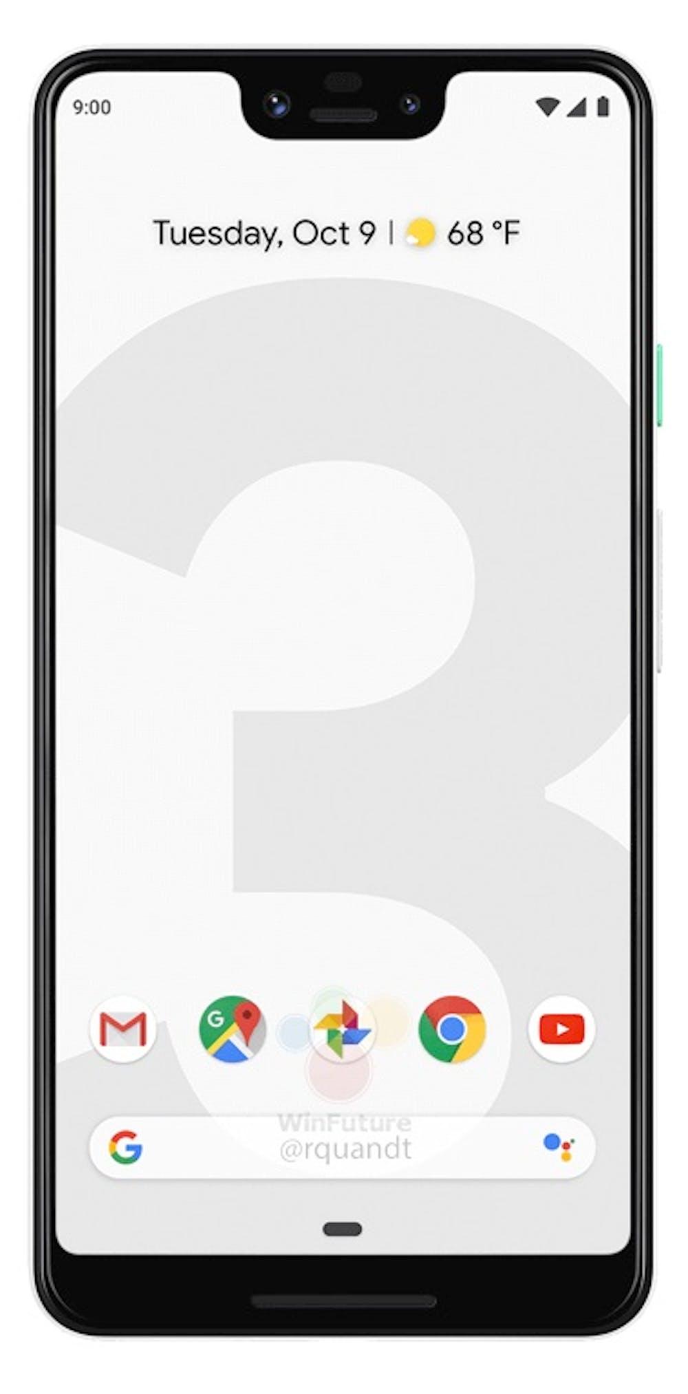 Pressebild des Google Pixel 3 XL. (Bild: Google; Winfuture)