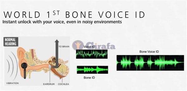 Per Sprache soll sich das Mate 20 mittels Bone Conduction auch bei lauter Umgebung entsperren lassen. (Screenshot;: Girafa)