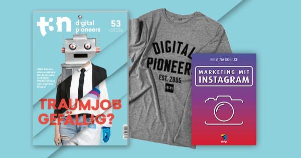 Marketing mit Instagram: Sicher dir ein Fachbuch zum t3n-Abo