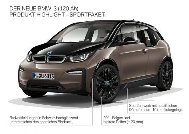 Die neuen Ausstattungs-Optionen des BMW i3. (Bild. BMW)