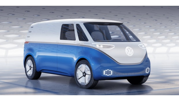 E-Bulli-Studie I.D. Buzz Cargo. (Foto: VW)